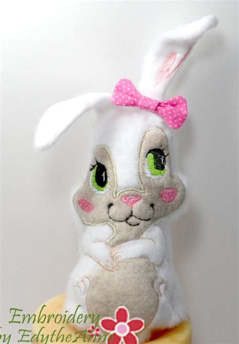 friends  bunny stuffie   hoop machine embroidery design  embroidery  edytheanne