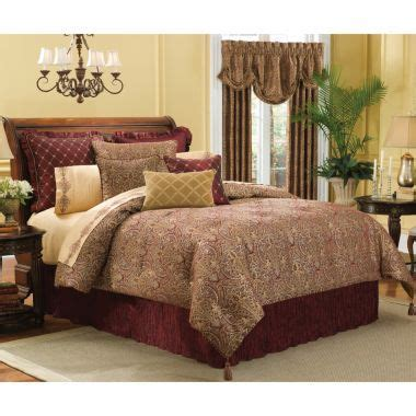 jcpenney air bed royal velvet lourdes chocolate comforter set accessories