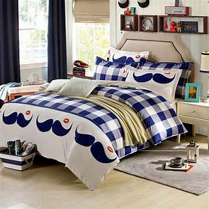 Funky Mustache Cotton Bedding Set | EBeddingSets