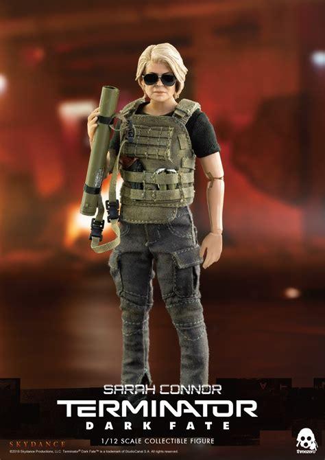 terminator dark fate sarah connor linda hamilton  action figure  cm threezero
