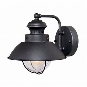shop cascadia lighting nautical 8 in h textured black With nautical outdoor deck lighting