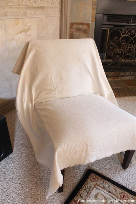 Armless Loveseat Slipcovers by Slipcovering An Armless Accent Chair Confessions Of A