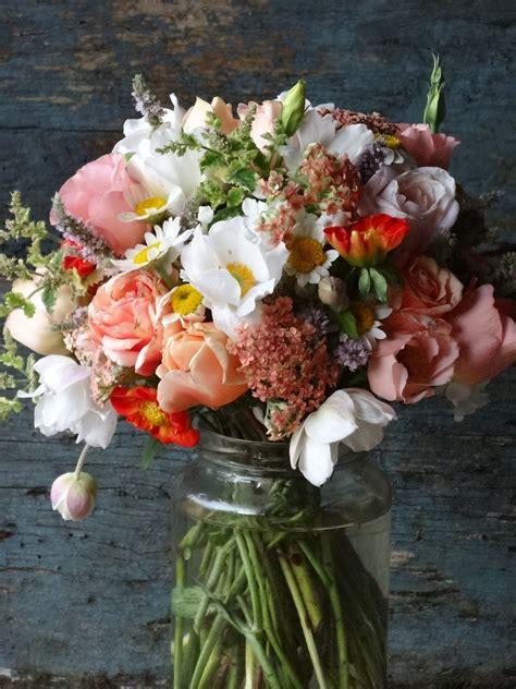 peachy wedding flowers august  catkin www