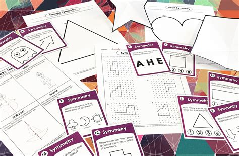 symmetry  graph paper worksheet printable worksheets