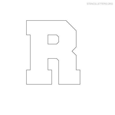Block Letter Templates by Stencil Letter Block R Wtfo Designs Letter Stencils