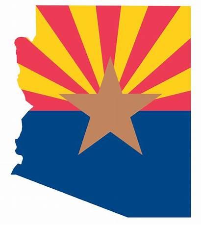 Shape Az Flag State Arizona
