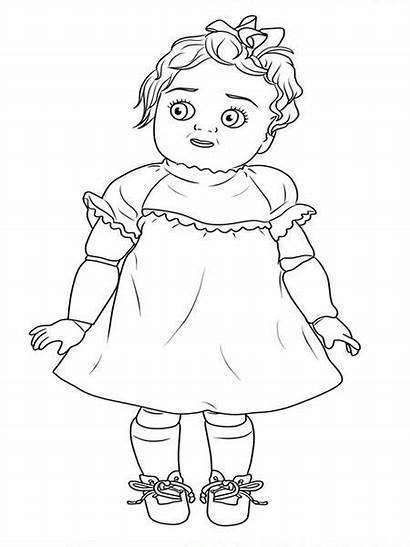 Coloring Dolls Books Dahlia Decrepit Pages Creepy