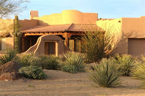 Southwestern Style Homes by Southwest Landscapes Front Yard Of A Southwestern Style