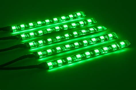 led color changing l motorcycle led lighting kit multi strip remote activated