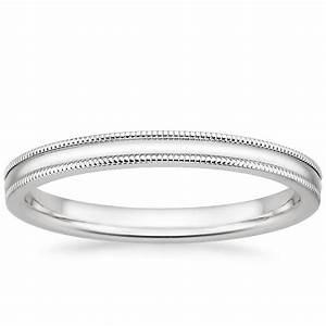 2mm Milgrain Wedding Ring Brilliant Earth