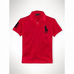 Lyst - Polo Ralph Lauren Slim-fit Big Pony Polo in Black ...