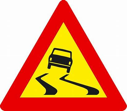Road Sign Slippery Signs Traffic Clipart Iceland