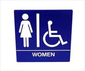 Restroom Women Bathroom Signs Printable