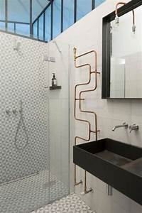 La salle de bains design inspiration et tendances 2018 for Salle de bain design avec fil métallique décoratif
