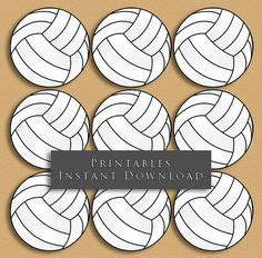printable volleyball template classroom ideas