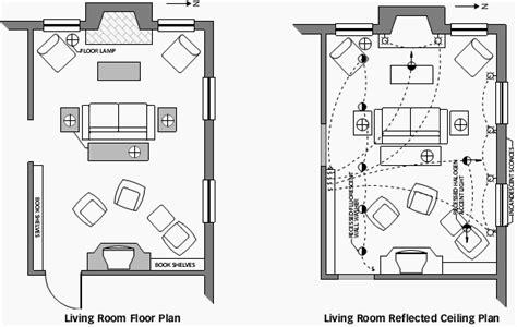 living room floor  reflected ceiling plan living room