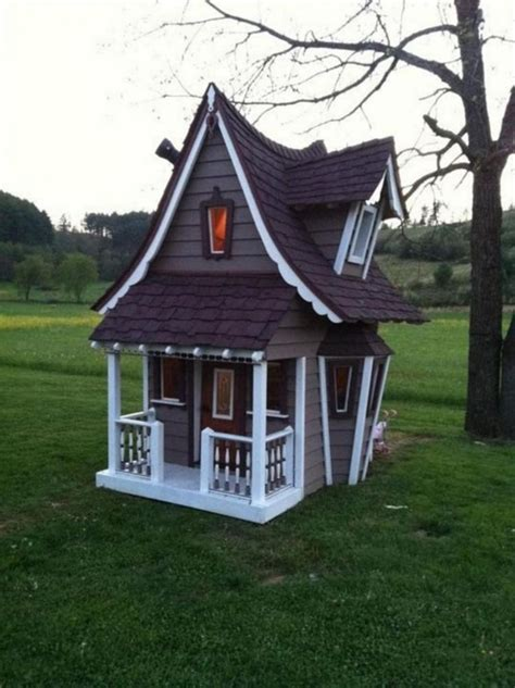 cute crooked playhouses images  pinterest crooked house treehouse  crooked man