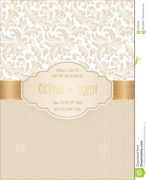vector invitation cards  wedding card  damask