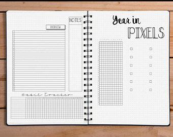 Bullet Journal Dotted Templates by Bullet Journal Bundle Template Collection Printable Bujo