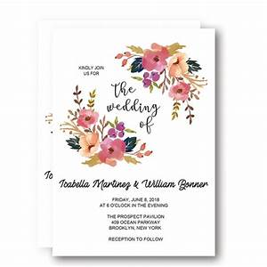 printable rustic coral floral wreath wedding invitation With blank coral wedding invitations