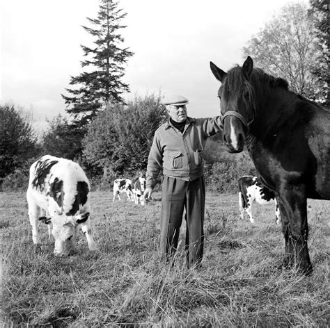 jean gabin orne 1955 jean gabin dans son domaine de la pichonniere la
