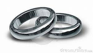 titanium and silver wedding rings symbol stock image With symbolism of wedding rings ceremony