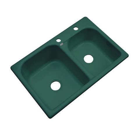 thermocast cambridge drop in acrylic 33 in 2 hole double