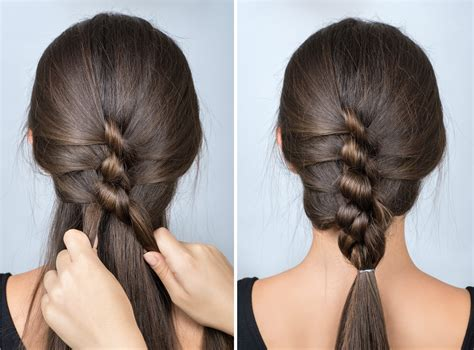 twisted braid simple hairstyle for school tutorial