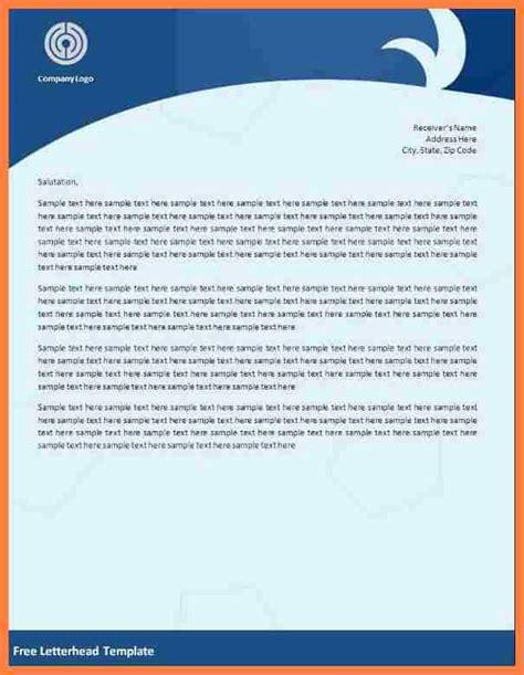 blank letterhead template company letterhead