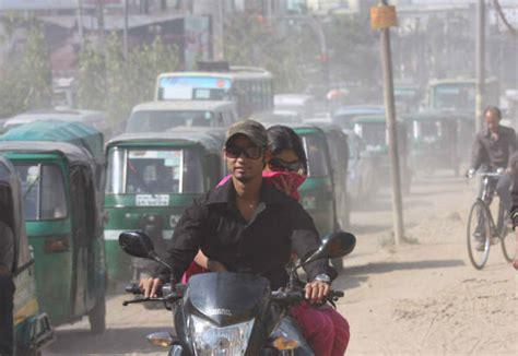 irin air pollution choking dhaka