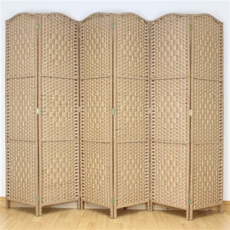 natural brown  panel solid weave wicker room divider hand