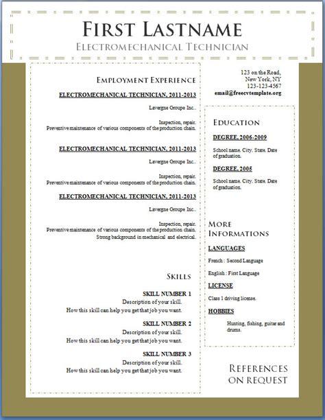 free cv template 100 to 106 free cv template dot org