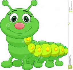 Green Caterpillar Cartoon