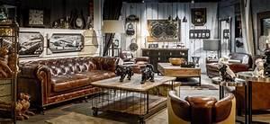 Style Industriel Salon : decoration industrielle ambiance loft accueil design et mobilier ~ Teatrodelosmanantiales.com Idées de Décoration