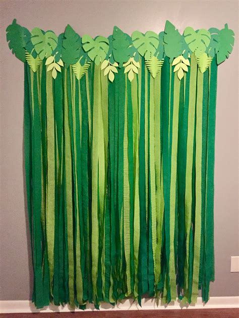 Diy Theme Backdrop by Leaves Backdrop For Animal Zoo Safari Jungle Themed