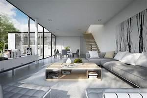 Bilder Modern Wohnzimmer : moderne wohnzimmer 24 interieur ideen mit tollem design ~ Orissabook.com Haus und Dekorationen