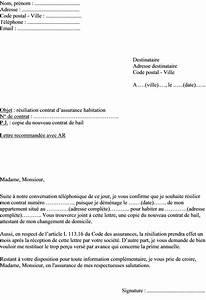 Modele De Resiliation Assurance : mod le lettre r siliation assurance habitation pour d m nagement actualit s informations ~ Gottalentnigeria.com Avis de Voitures