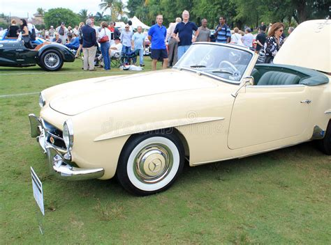 florida power and light stock price history classic merc convertible sports car editorial photo