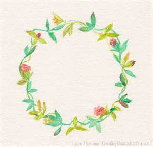 watercolor floral wreath printable creating outside the box