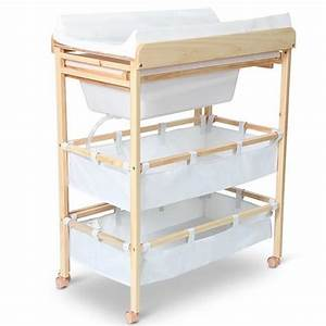 Rangement Table à Langer : table langer pratique avec baignoire et rangement ~ Teatrodelosmanantiales.com Idées de Décoration