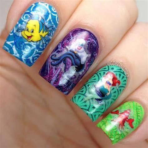 mermaid nail art water decals