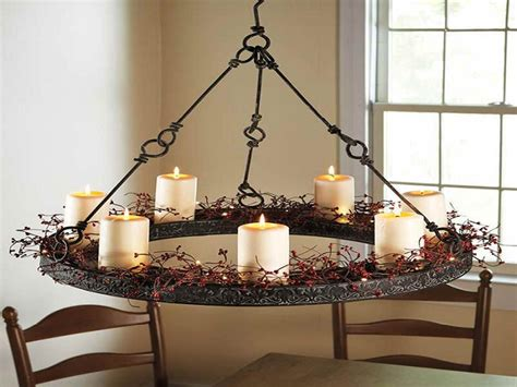 homeofficedecoration hanging real candle chandeliers