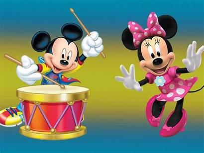 Mickey Minnie Mouse Desktop Drum Cartoon Wallpapers