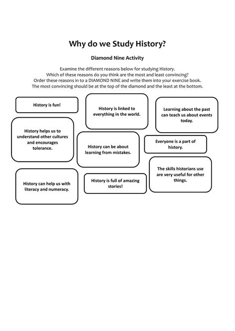 study history activity worksheet ks lesson