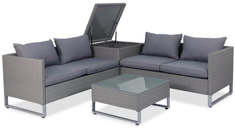 Outdoor Sofa Rattan by Royal Synthetic Rattan Outdoor Sofa Set With Storage Box