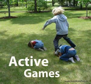 Kids Playing Games Outside
