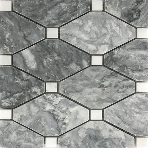 light gray marble boliche mosaic tile light grey white marble polished