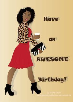 happy birthday card  women beautiful black african