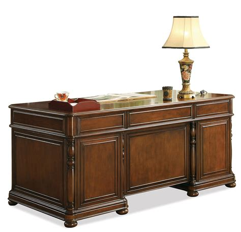bristol court l desk riverside furniture bristol court cognac cherry finished