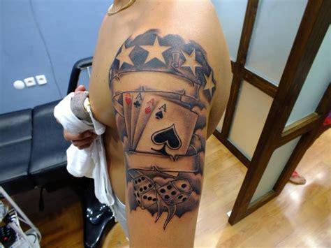 schulter ass pik karten tattoo von yusuf artik tattoo studio